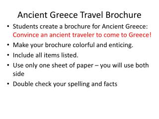 Ancient Greece Travel Brochure