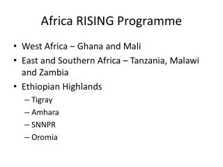 Africa RISING Programme