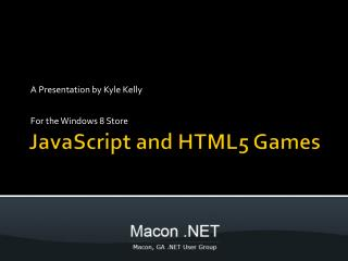 JavaScript and HTML5 Games