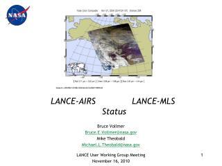 LANCE-AIRS              LANCE-MLS  Status