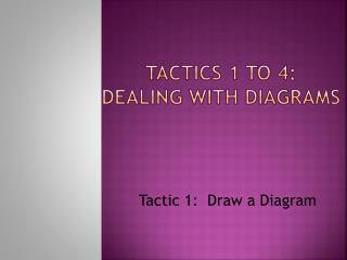 Tactics 1 to 4:   Dealing with Diagrams