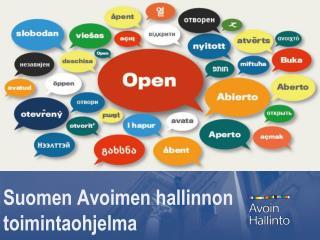 Suomen Avoimen hallinnon toimintaohjelma