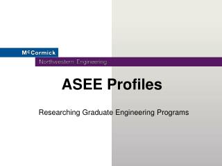 ASEE Profiles