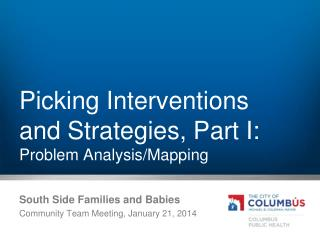 Picking Interventions and Strategies, Part I: Problem Analysis/Mapping