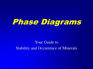 Mineral Stability Phase Diagrams