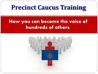 Precinct Caucus Training