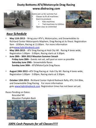 Dusty Bottoms ATV/Motorcycle Drag Racing dbdracing