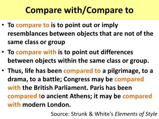 Compare with/Compare to