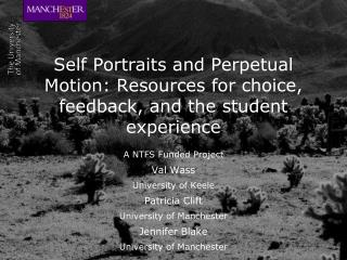 Self Portraits and Perpetual Motion: Resources for choice, feedback, and the student experience
