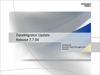 DataMigrator Update Release 7.7.04