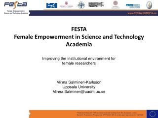 FESTA Female Empowerment in Science and  Technology Academia