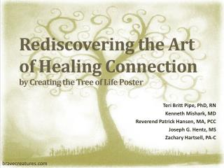 Rediscovering the Art of Healing Connection by Creating the Tree of Life Poster