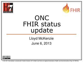 ONC FHIR status update