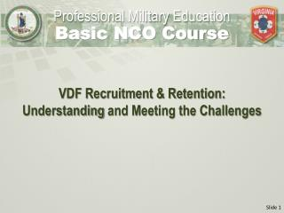 VDF Recruitment & Retention:  Understanding  and Meeting the Challenges