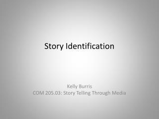 Story Identification