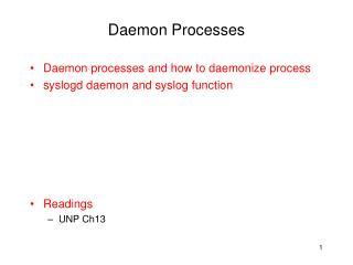 Daemon Processes
