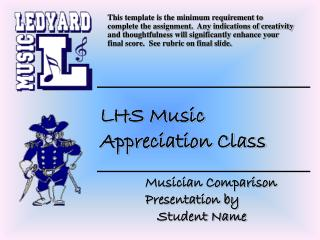 Musician Comparison Presentation by Student Name