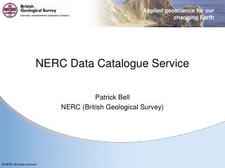 NERC Data Catalogue Service