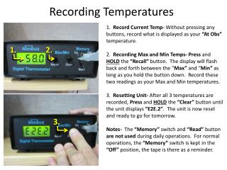 Recording Temperatures