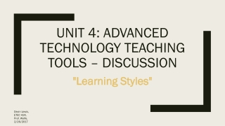 LEARNING STYLES    A REVIEW