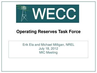 Operating Reserves Task Force