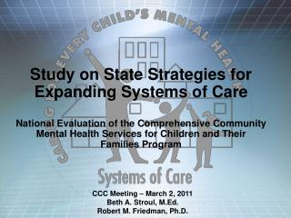 Study on State Strategies for Expanding Systems of Care