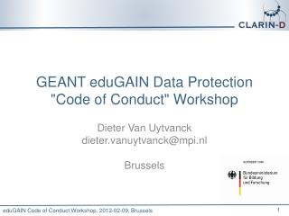 GEANT  eduGAIN  Data Protection