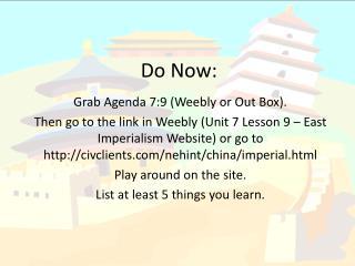 Do Now: