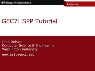 GEC7: SPP Tutorial