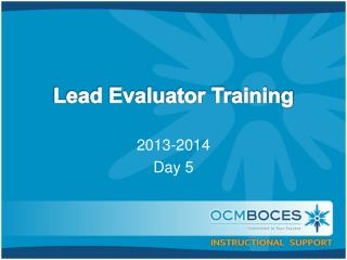Lead Evaluator Training