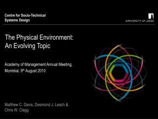 The Physical Environment: An Evolving Topic