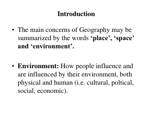Approaches and Methods in Human Geography
