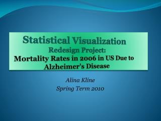 Alina Kline  Spring Term 2010