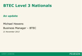 BTEC Level 3 Nationals