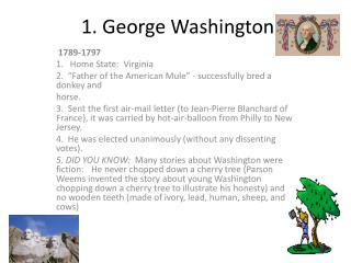 1. George Washington