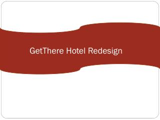GetThere Hotel Redesign