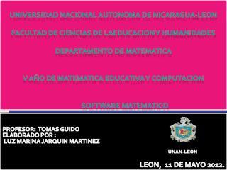 PROFESOR:  TOMAS GUIDO ELABORADO POR :  LUZ MARINA JARQUIN MARTINEZ LEON,  11 DE MAYO 2012.