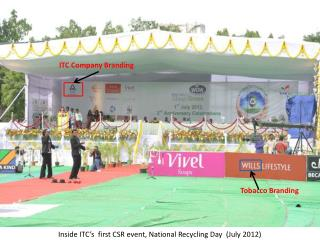 Inside ITC's  first CSR event, National Recycling Day  ( July 2012)
