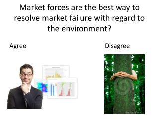 Market forces are the best way to resolve market failure with regard to the environment?