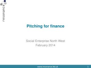Pitching for finance