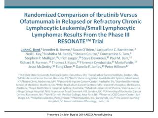 Presented By John Byrd at 2014 ASCO Annual Meeting