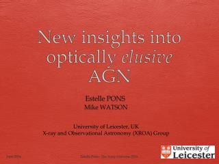New insights into optically  elusive  AGN