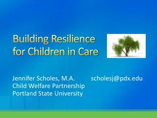 Building Resilience for Children in Care