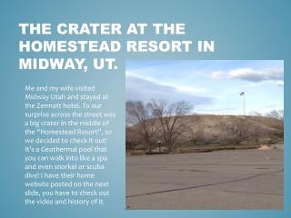 The Crater at the homestead resort in midway,  ut.