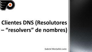 """Clientes DNS (Resolutores – """"resolvers"""" de nombres)"""