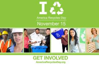 America Recycles Day Powerpoint Template