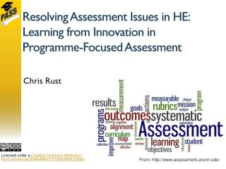Resolving Assessment Issues in HE: Learning from Innovation in Programme-Focused Assessment