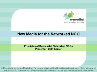 New Media for the Networked NGO