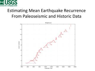 Estimating Mean Earthquake Recurrence From  Paleoseismic  and Historic Data