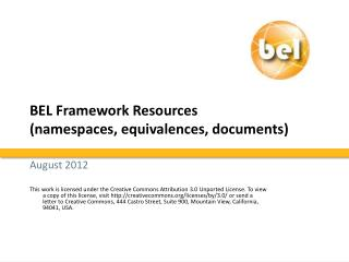BEL Framework Resources (namespaces, equivalences, documents)